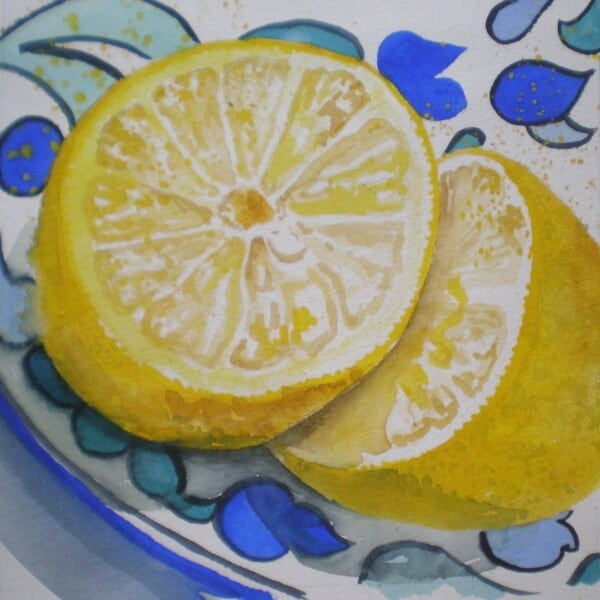Lemon on Moroccan Plate