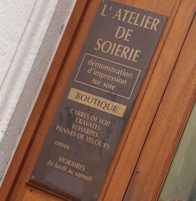 L'Atelier de Soierie.