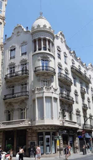 Buildings in Valencia.